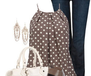 earrings, shoes, and jeans image