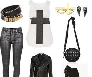 outfit, black, and rock image