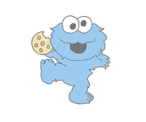 overlay, cookie, and cookie monster image