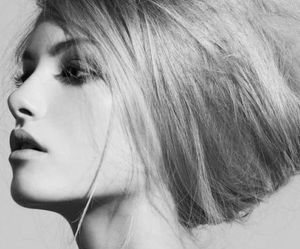beauty, fashion, and black and white image
