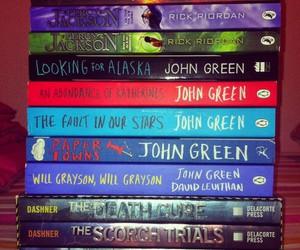 books, john green, and percy jackson image