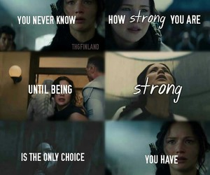 strong, the hunger games, and catching fire image