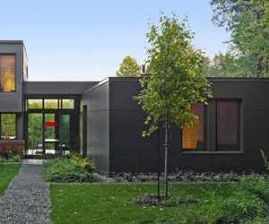 interior design, green courtyard, and house material image