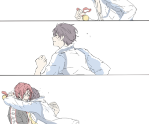 rinharu, free iwatobi swim club, and haru x rin image