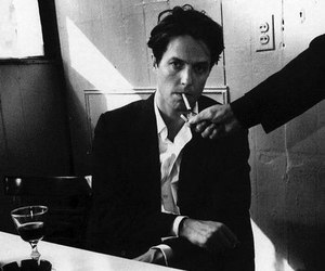 actor, black and white, and cigarette image
