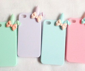girly, mint, and pink image
