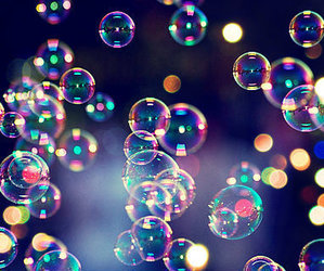bubbles, colorful, and rainbow image