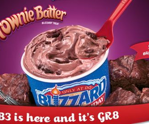 batter, brownie, and Dairy Queen image