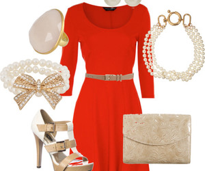belt, earrings, and Polyvore image