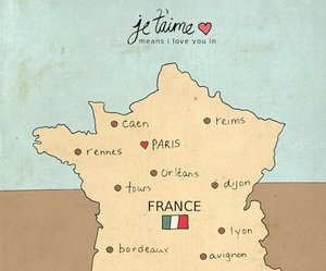 france, jetaime, and love image