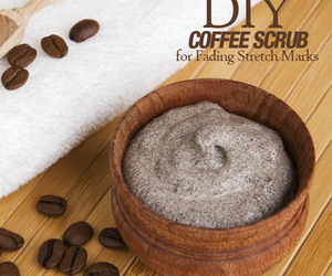 stretch marks, home remedies, and coffee scrub image