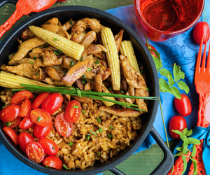 chicken and rice, chicken recipes, and one pot dinners image