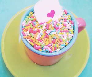 colorful, cup, and heart image