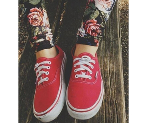 red, vans, and pretty image