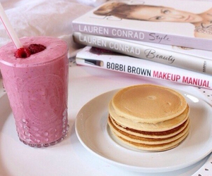food, pancakes, and book image