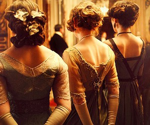 vintage, downton abbey, and lady image