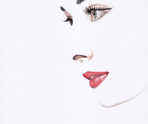 art, audrey hepburn, and lips image
