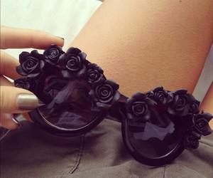 fashion, black, and sunglasses image