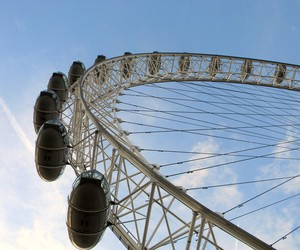 london, london eye, and love image