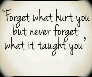 quotes, forget, and hurt image