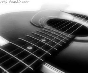 black&white, guitar, and tumblr image