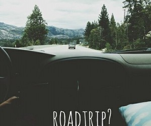 roadtrip, car, and travel image