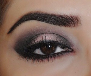 makeup, beautiful, and eye image