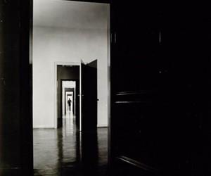 b&w, doors, and open doors image