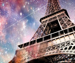 paris, galaxy, and stars image