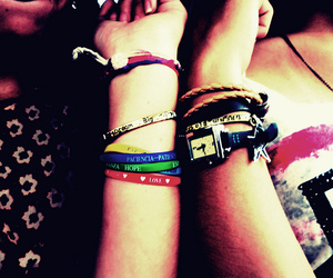 bracelets, girls, and lovers image