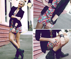 blazer, legs, and rings image