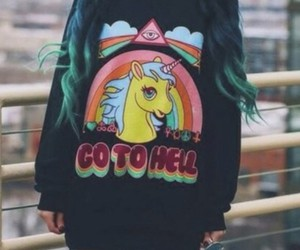 grunge, hipster, and rainbow image