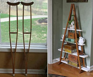 diy, crutches, and shelf image