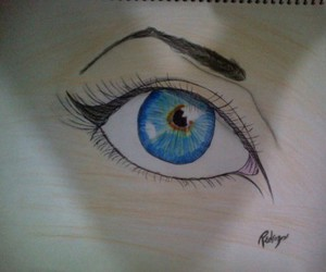 blue, drawing, and eye image