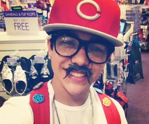 glasses, hat, and mustache image