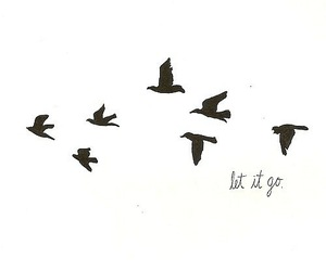let it go, art, and black and white image