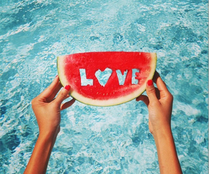 piscina, summer, and love image