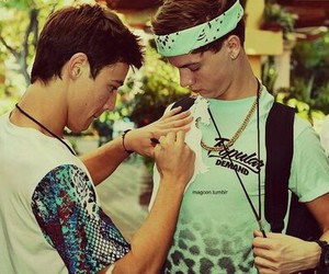 taylor caniff, cameron dallas, and magcon image
