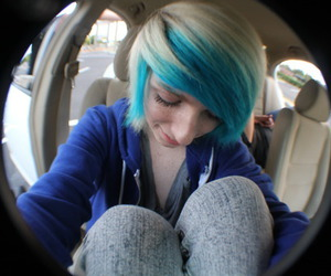 cwissi, blue hair, and boy image