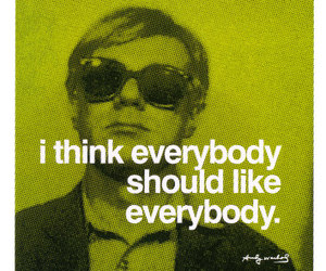 quote, andy warhol, and everybody image