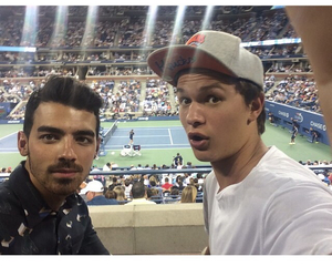 ansel elgort and Joe Jonas image
