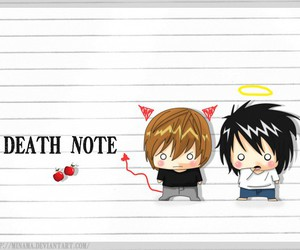 death note, L, and light image