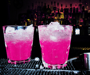 drink, glass, and pink image