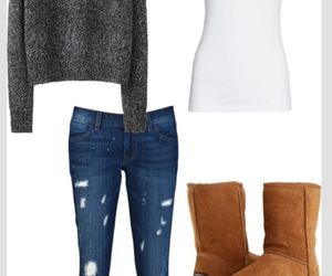 outfit, jeans, and boots image