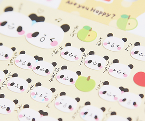 panda, kawaii, and cute image