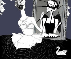 ballet, mirror, and swan lake image