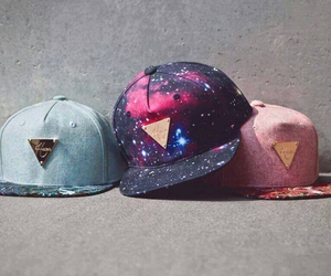 cap, galaxy, and swag image
