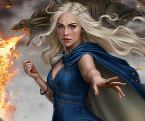 dragons, girlpower, and game of thrones image