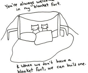 cat, fort, and love image