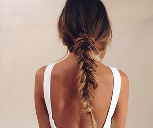braid, ombre, and hair image